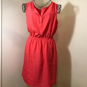 Loft Hot Pink Dress With Pockets- Gently Used